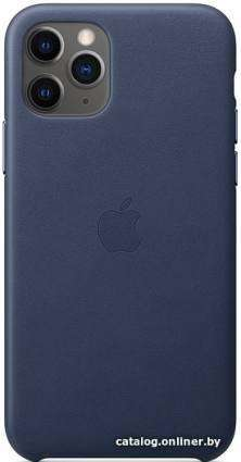 Apple Leather Case для iPhone 11 Pro (темно-синий)