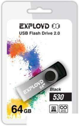 USB Flash Exployd 530 64GB (черный) EX064GB530-B