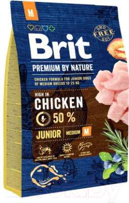 Корм для собак Brit Premium by Nature Junior M / 526321