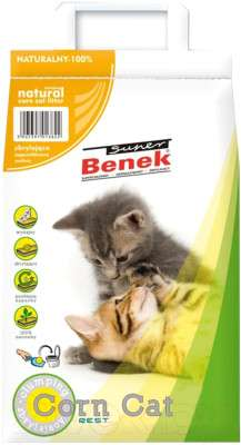 Наполнитель для туалета Super Benek Corn Cat натуральный