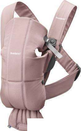 Рюкзак-переноска BabyBjorn Mini Cotton (dusty pink)