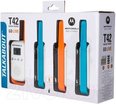 Комплект раций Motorola Talkabout T42 Quad Pack